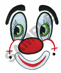 DOLL FACE CLOWN embroidery design