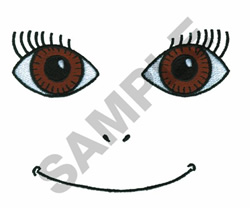 DOLL FACE embroidery design