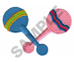 RATTLES embroidery design