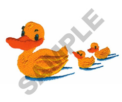 DUCK & DUCKLINGS embroidery design