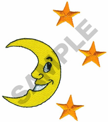 MOON AND STARS embroidery design