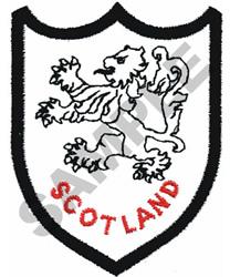 SCOTLAND SHIELD embroidery design
