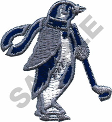 HOCKEY PENGUIN embroidery design