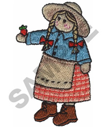 COUNTRY GIRL DOLL embroidery design