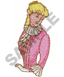 VICTORIAN GIRL embroidery design