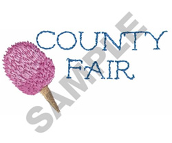 COUNTY FAIR POPSICLE embroidery design