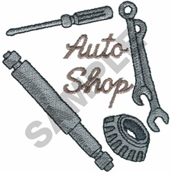 AUTO SHOP embroidery design