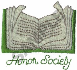 HONOR SOCIETY embroidery design