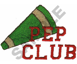 PEP CLUB embroidery design