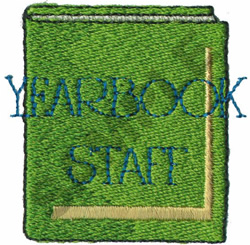YEARBOOK STAFF embroidery design