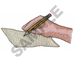 WRITER embroidery design