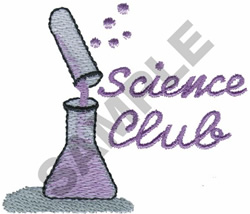 SCIENCE CLUB embroidery design