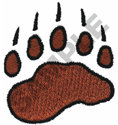 BEAR PAW PRINT embroidery design