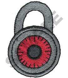 LOCK embroidery design