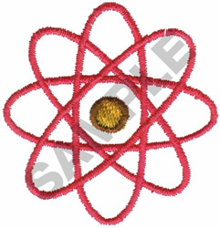 ATOM SYMBOL embroidery design