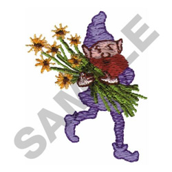 PIXIE CARRYING FLOWERS embroidery design