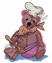 BEAR WITH MIXING BOWL embroidery design