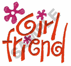 GIRLFRIEND FLOWERS embroidery design