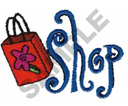 SHOP BAG embroidery design