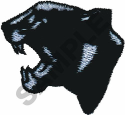 BLACK PANTHER embroidery design