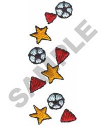 SOCCER BORDER embroidery design