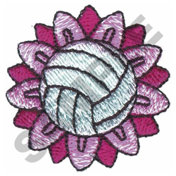 VOLLYBALL FLOWER embroidery design