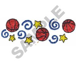 BASKETBALL BORDER embroidery design