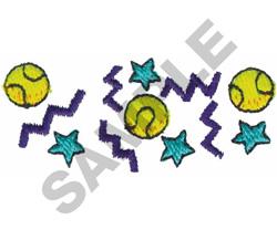 TENNIS BALL BORDER embroidery design