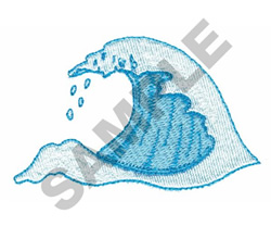 SURFING WAVE embroidery design