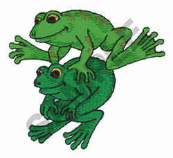 FROGS embroidery design