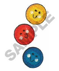 HAPPY FACES embroidery design