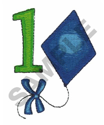 KITE AND NUMBER1 embroidery design