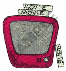 T.V. AND VIDEO embroidery design