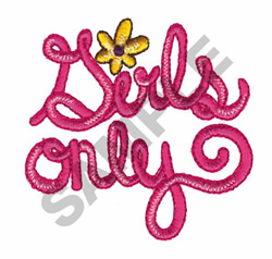 GIRLS ONLY embroidery design