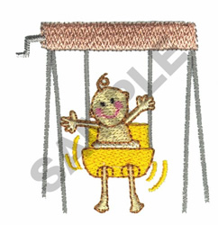 BABY SWINGING embroidery design