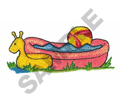 FLOAT, POOL, AND BEACH BALL embroidery design