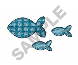 GINGHAM FISH embroidery design