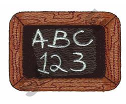 CHALKBOARD embroidery design