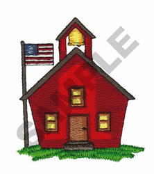 SCHOOL HOUSE embroidery design
