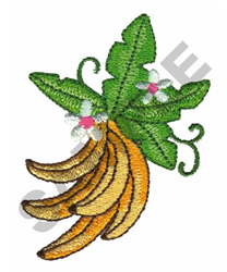 BANANAS embroidery design