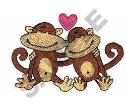 MONKEY LOVE embroidery design