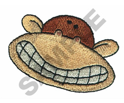 SILLY FACE MONKEY embroidery design