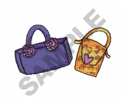 PURSES embroidery design