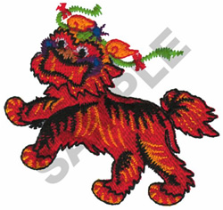 DRAGON DOG embroidery design