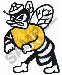 FIGHTING YELLOW JACKET embroidery design