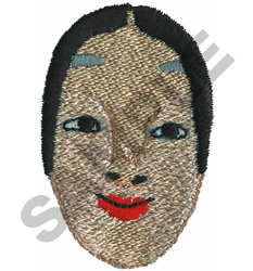 GEISHA embroidery design