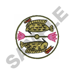 EGYPTIAN FISH embroidery design