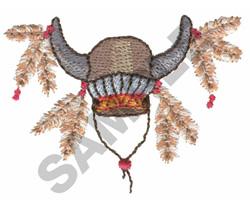 BUFFALO HEAD DRESS embroidery design
