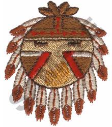 NATIVE AMERICAN SHIELD embroidery design