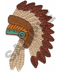 WAR BONNET embroidery design